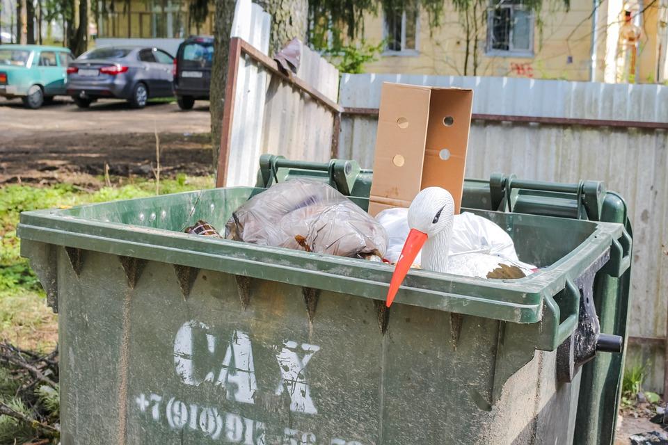 В Кемерове владельца Mazda за неправильную парковку наказали мусорными баками