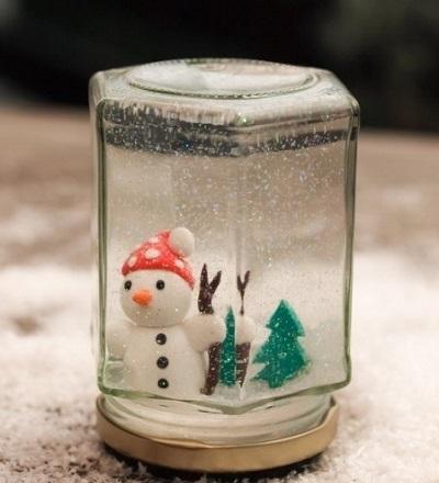 Сделай оригинальный новогодний подарок близким. Этот волшебный снежный шар очарует всех!