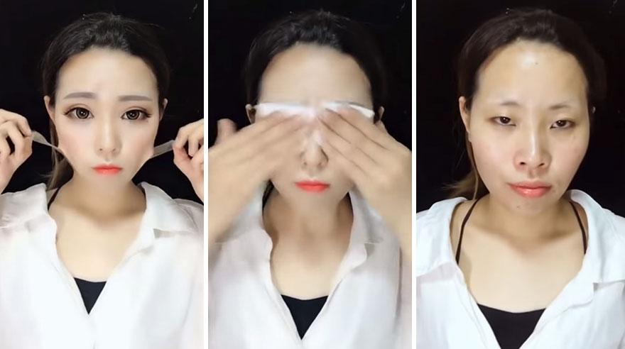 корейский макияж до и после фото брюк отворотами, которые
