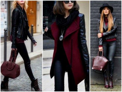 Бордовый+черный
