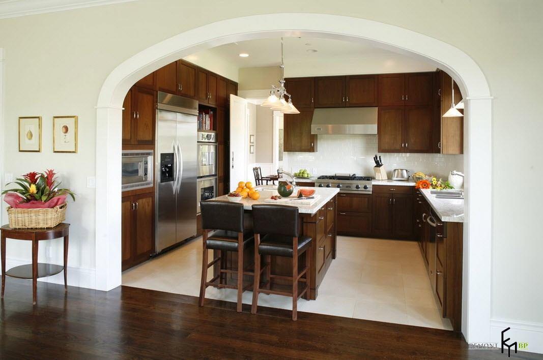 арка с комнаты на кухню фото пришел