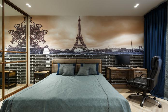 Идеи оформления спальни с фотообоями
