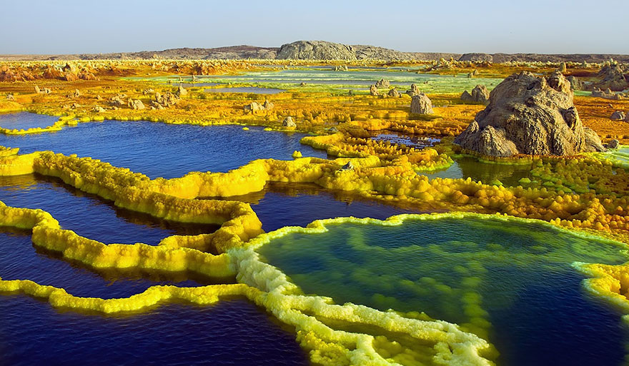 19. Вулкан Даллол, Эфиопия земля, красота, планета, природа