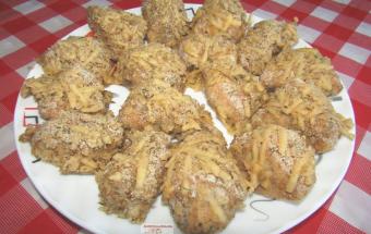 Куриное филе в сырной панировке