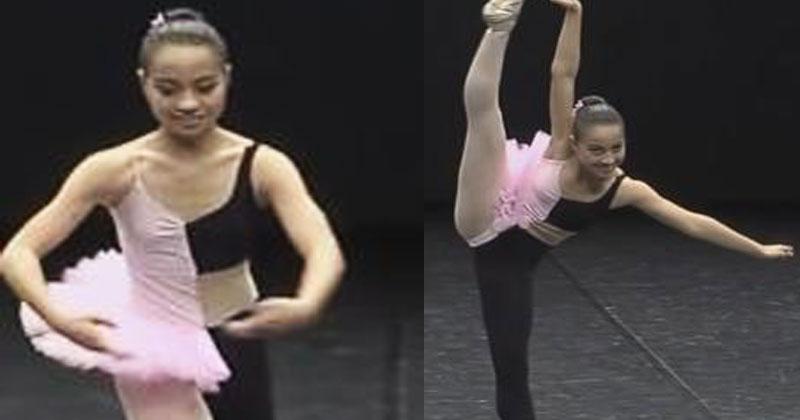 Балерина вышла на сцену и на…