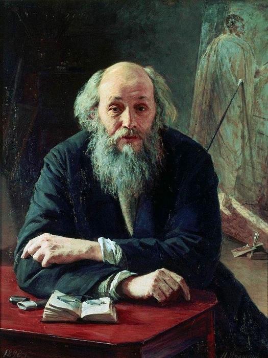 «Портрет художника Николая Ге». Автор: Н. Ярошенко.