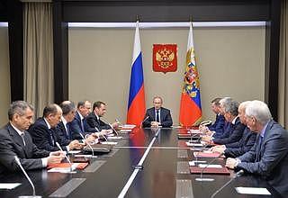 Совещание с постоянными членами Совета Безопасности
