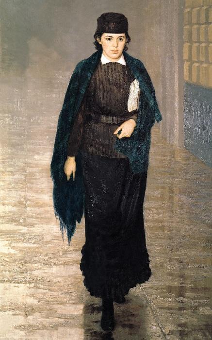 «Курсистка».(1880 год). Автор: Н. Ярошенко.