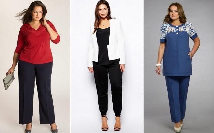 Стильные брюки для полных женщин. \ Фото: kanalukraina.tv.