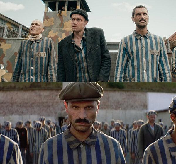 """Ну а """"чо"""" нормально же - кепки/шапки/пиджаки в концлагере... кепка вообще как вчера из ателье."""