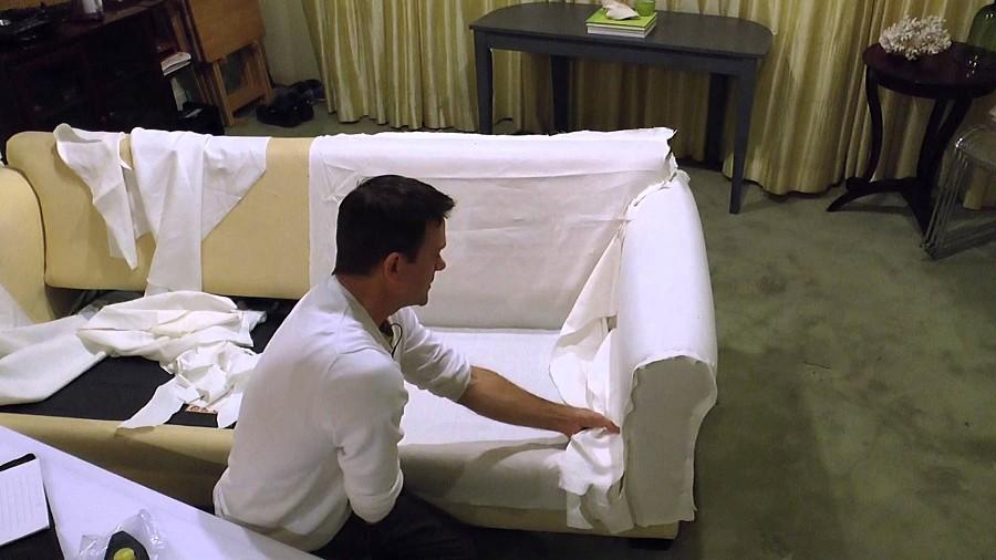 Шьем чехол на диван — пошаговый мастер-класс в фото и видео