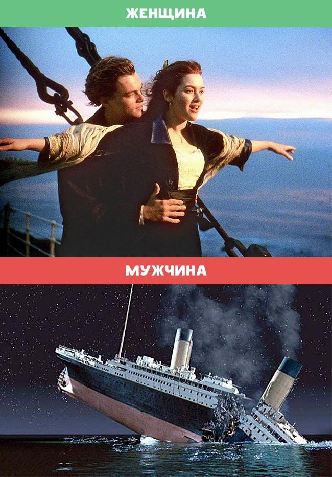 Зачем мы смотрим «Титаник» женщина, мужчина, различия