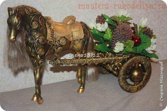 Лошадка с повозкой