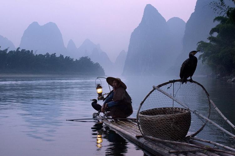 Китайская рыбалка с бакланам…