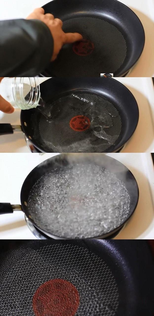 10. Чистка сковороды быт, идея, уксус