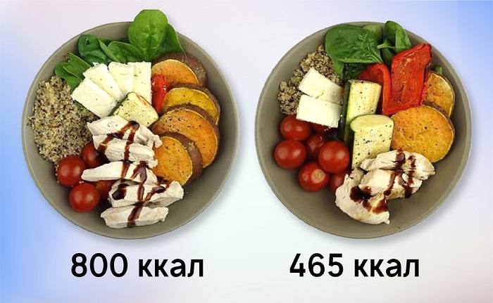 снизить калорийность пищи