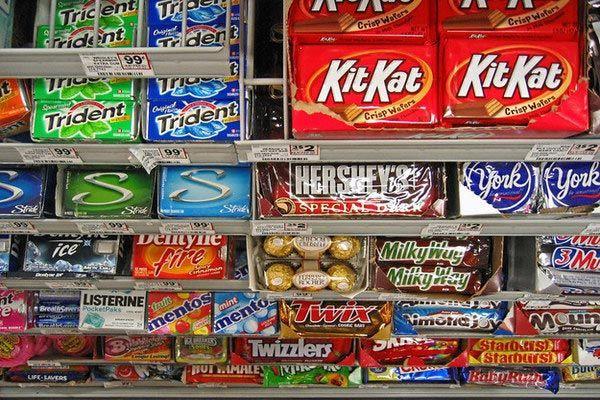 Импульсивные продукты продукты, супермаркет