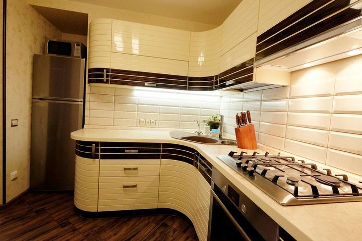 Стильная кухня фото, переделка хрущевки