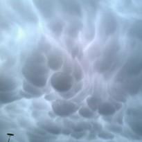 Вымеобразные облака в конце …
