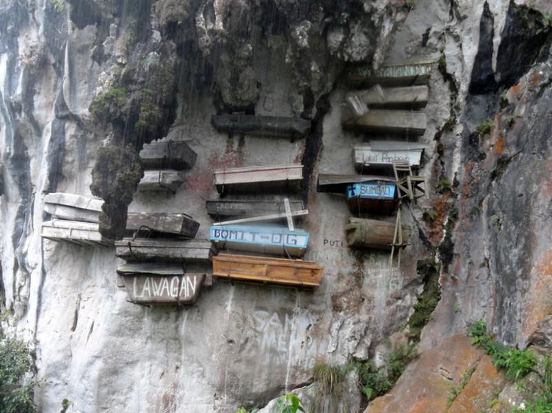 24. Висячие гробы Сагады, Филиппины интересное, история, поучительное, факты