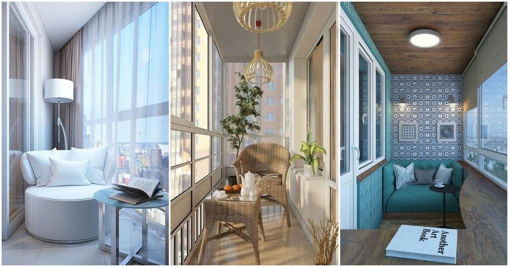 Любопытные идеи обустройства закрытого балкона