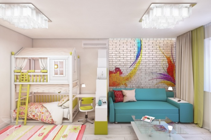 Однокомнатная квартира для семьи с ребёнком.