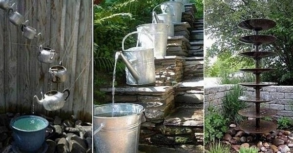 11 восхитительных идей водопадов и прудиков для дачи своими руками