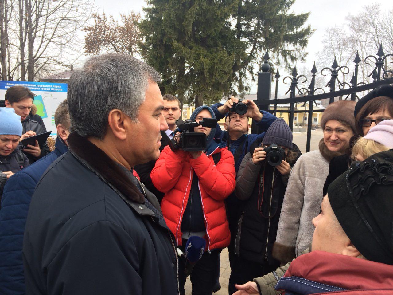 Спикер Госдумы посетил детск…