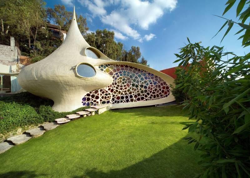 4. Домик моллюска (Nautilus House) в Мексике. в мире, дом
