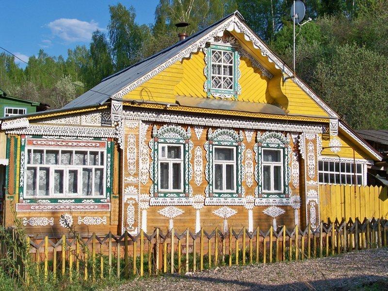 На холмах расположились резные домики Города России, Плёс, ивановская область, красивые города, пейзажи, путешествия, россия
