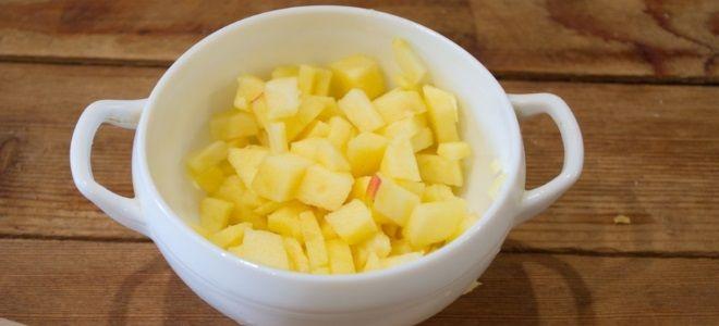 начинка для пирожков из свежих яблок