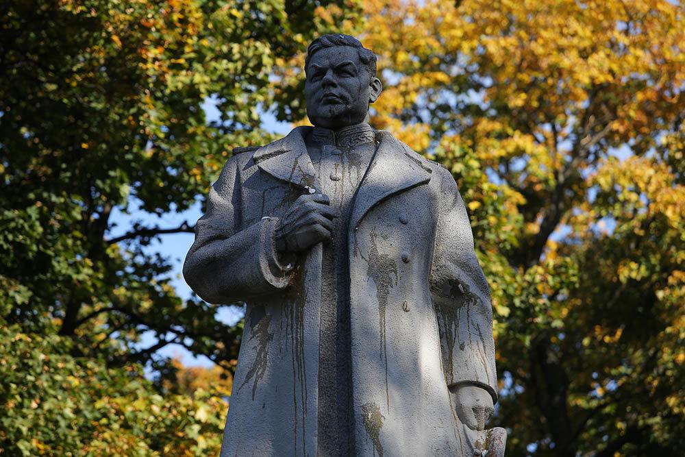 В Киеве радикалы попытались снести памятник генералу Николаю Ватутину