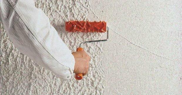 Отделка стен рельефной штукатуркой