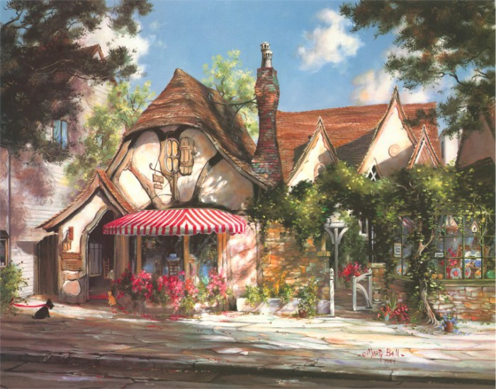Сказочные домики художницы Marty Bell