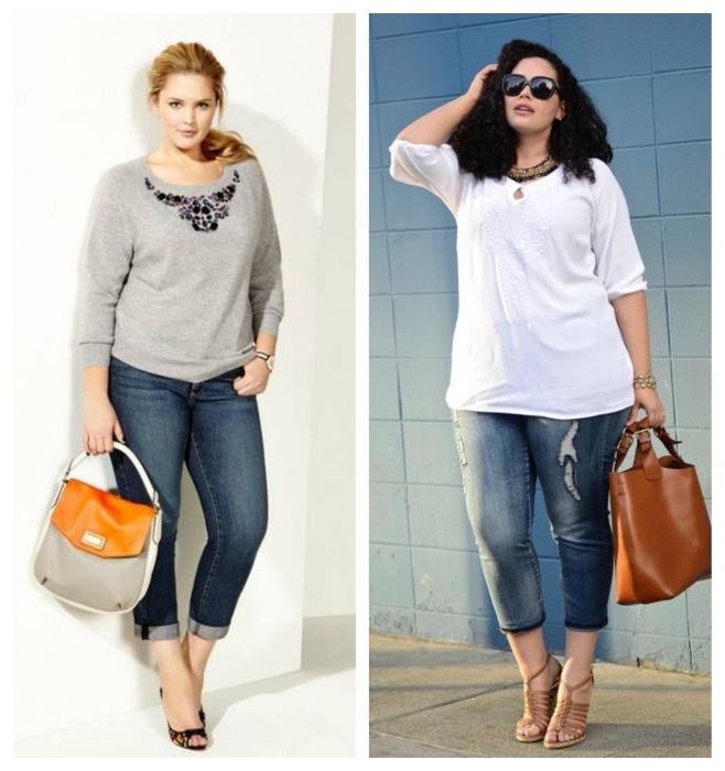 Укороченные джинсы. \ Фото: google.ru.