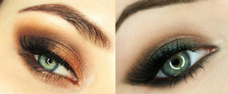 Коричневый макияж для зеленых глаз фото