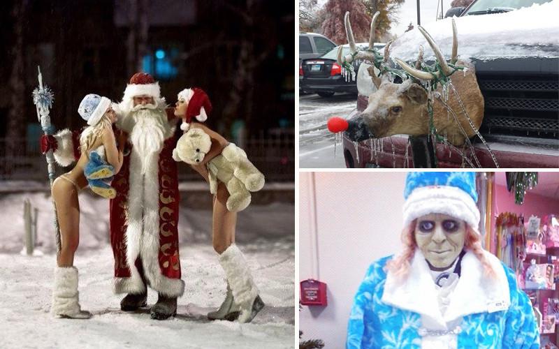 смешные картинки про снегурочку и деда мороза