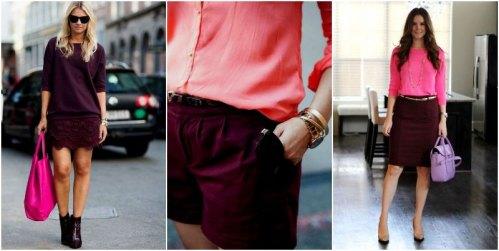 Бордовый+розовый