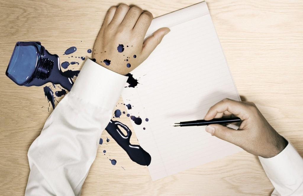Удалить пятно шариковой ручки на бумаге фото