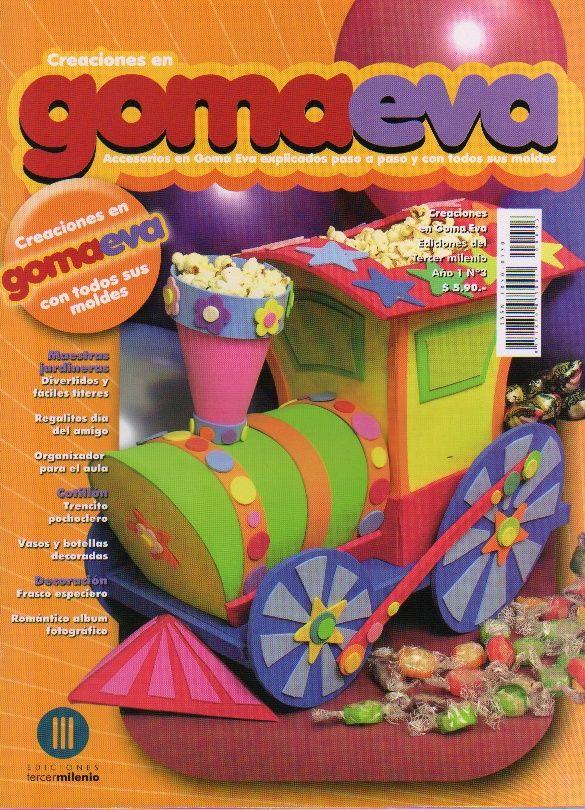 Испанский журнал о поделках из фоамирана и фетра Creaciones en Goma Eva 03 2008