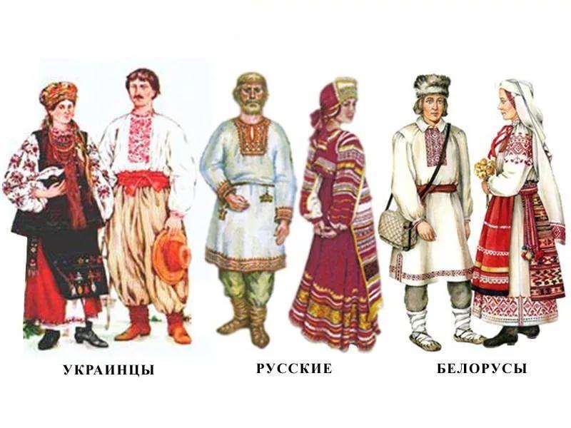 Мозаика народов: русские, украинцы и белорусы