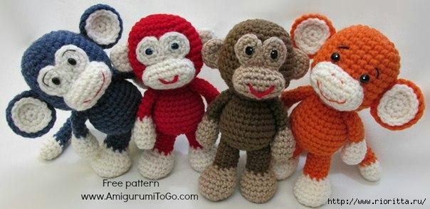 Вязаная обезьянка символ 201…