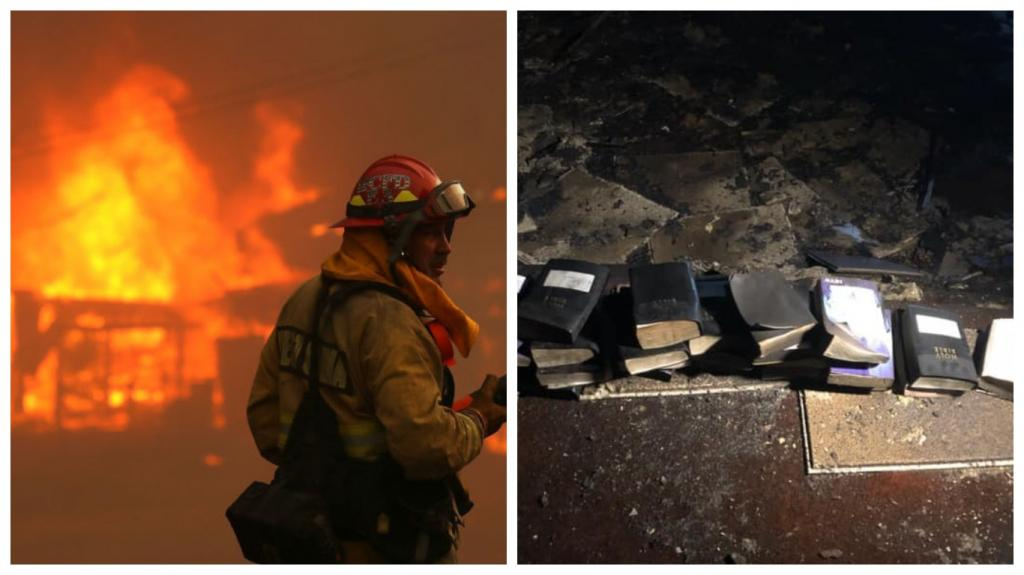 Божий знак или простое совпадение? Огонь полностью уничтожил церковь, но ни одна Библия не пострадала