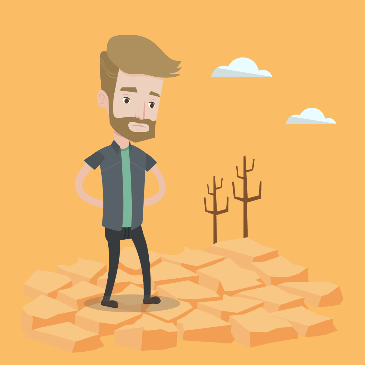 Анекдот про мужика впустыне ибездонный колодец