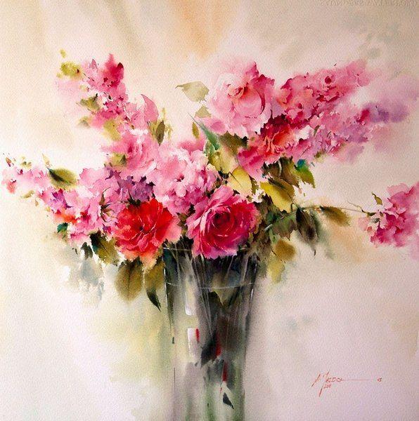 Цветочные картины от художника Mohammad Yazdchi