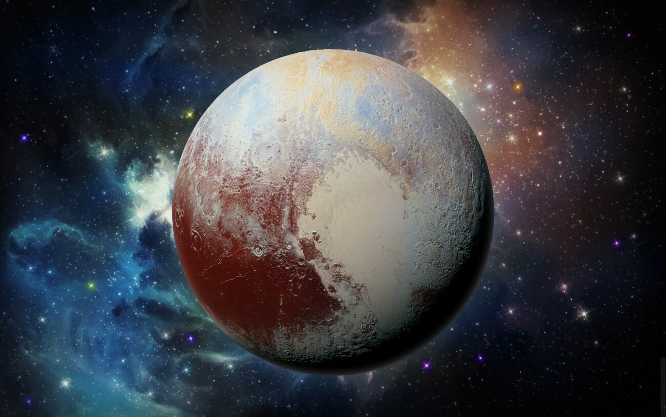 Плутон. Фон естественно нарисован/ © NASA