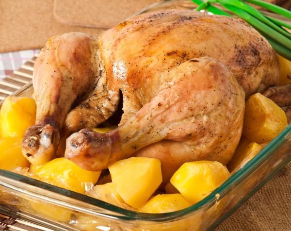 Запеченная курица с картофел…