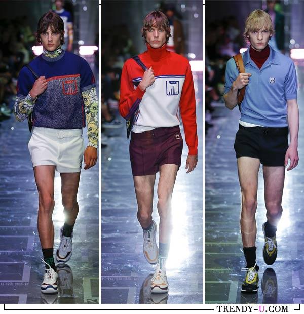 Короткие мужские шорты из коллекции Prada весна-лето 2019