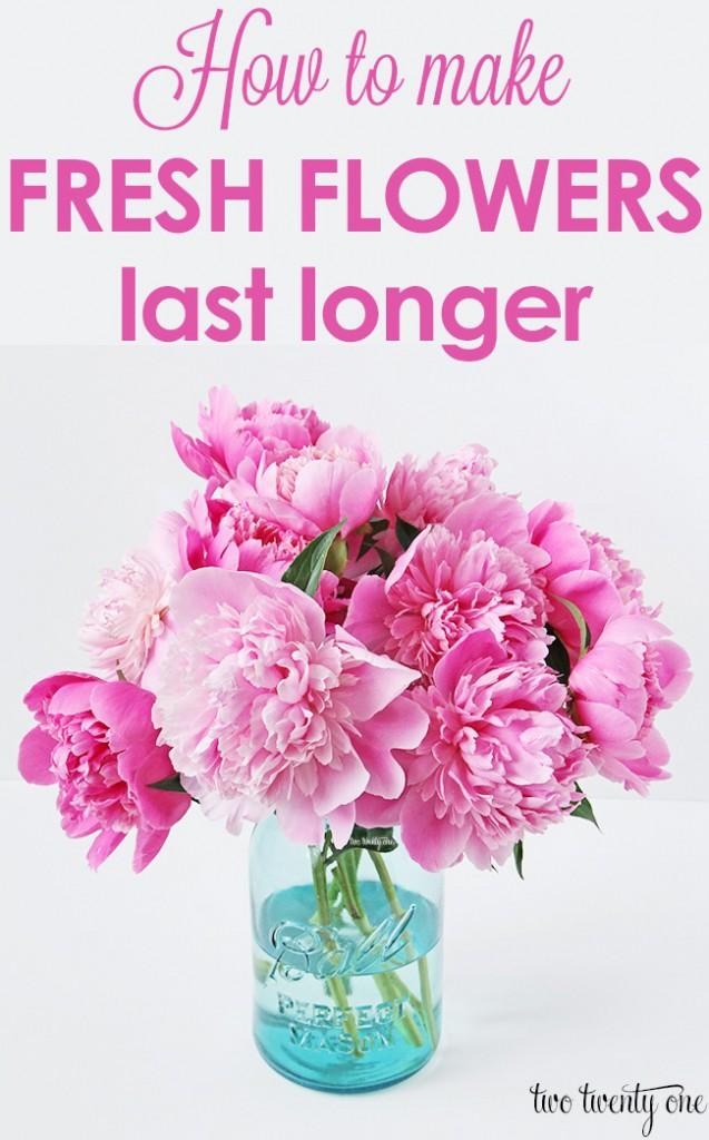 Как сделать, чтобы живые цветы не увядали дольше