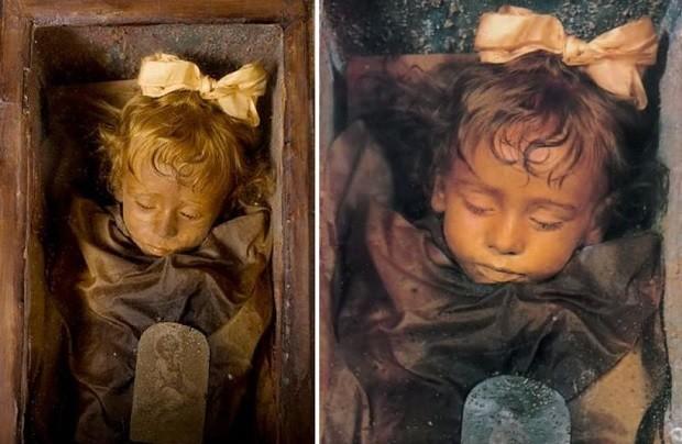 95-летняя мумия девочки откр…